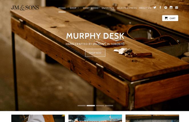 Giao diện website đẹp kinh doanh bàn ghế