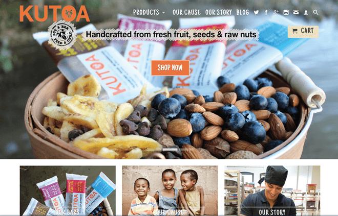 Giao diện website đẹp kinh doanh bánh kẹo