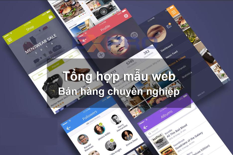 Thiết kế web kinh doanh theo mẫu đẹp.
