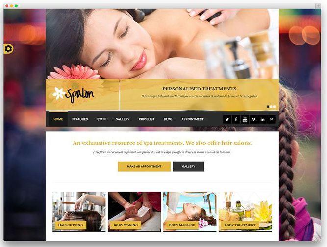 Giao diện trang web của Spalon