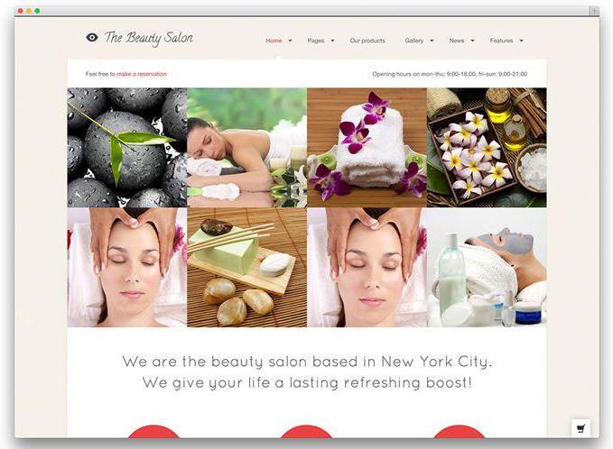 Theme thiết kế dạng Grid của The Beauty Spa