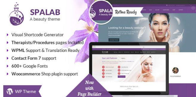 Theme spa Lab - cách phối màu nhẹ nhàng và cuốn hút