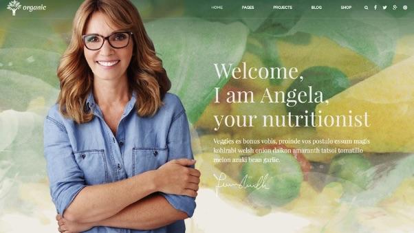 Organic food - mẫu website dinh dưỡng chuyên nghiệp