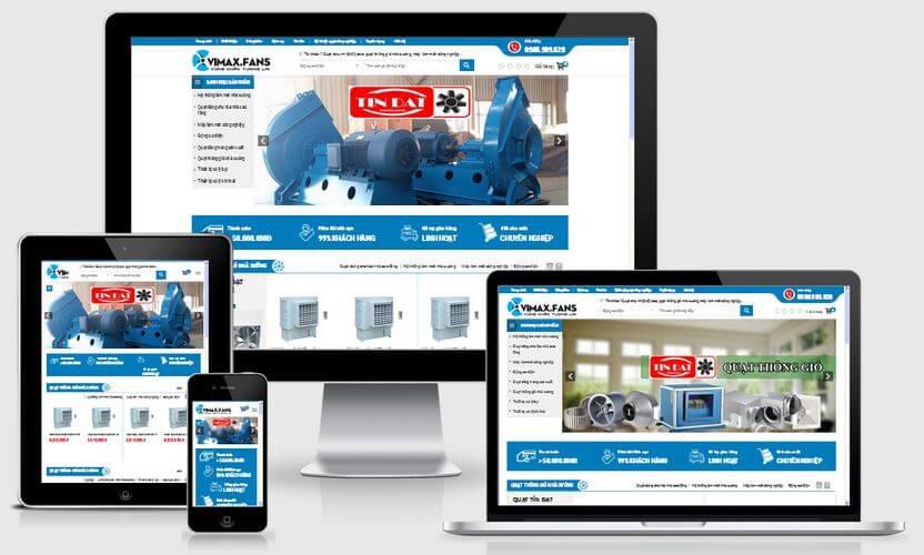 mẫu website công nghiệp