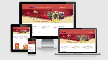 mẫu website bán hàng tết